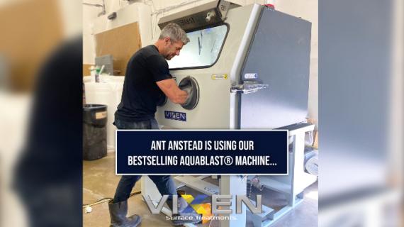 Ant Anstead using Vixen's Aquablast® for new TV shows in America!